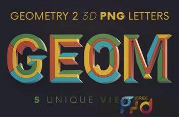 Geometry 2 - 3D Lettering WT6JX8W 6