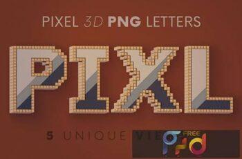 Pixel - 3D Lettering X8VE6HM 3