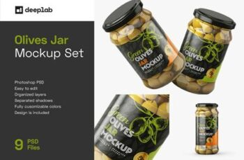 Olives Jar Mockup Set 5948967 15