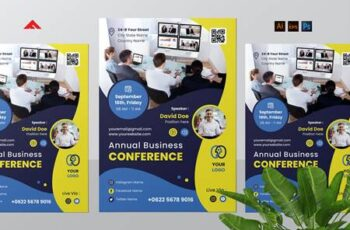 Business Virtual Conference Flyer 7FRXJDF 7