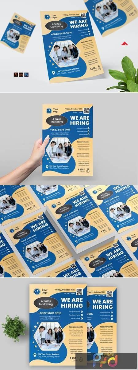 Sales Marketing Job Hiring Flyer VWH64SY 1