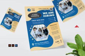 Sales Marketing Job Hiring Flyer VWH64SY 14
