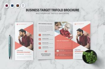 Business Target Trifold Brochure WYFY9BH 11