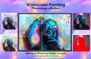 Watercolor Painting Photoshop Action 5218684 12