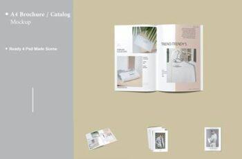 A4 Brochure - Catalog Mockup V.3 53ADWLH 15