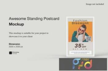 Awesome Standing Postcard Mockup APWE6RC 1
