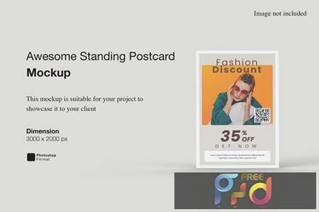 Awesome Standing Postcard Mockup APWE6RC 1