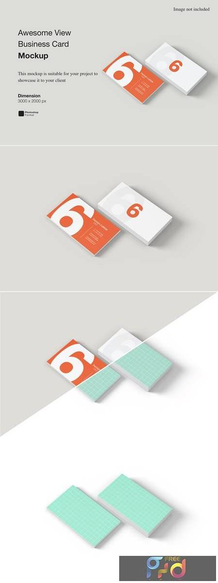 Awesome View Business Card Mockup UHFNZLE 1