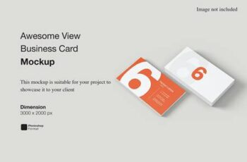 Awesome View Business Card Mockup UHFNZLE 3