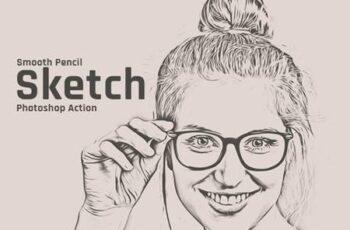 Smooth Pencil Sketch Photoshop Action 30545695 6