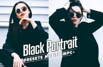 Black Tones Portrait Lightroom Presets Mobile & PC HNF5SLB 13