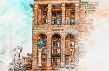 Pen & Watercolor Photoshop Action 24939218 12