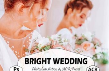 10 Bright Wedding Photoshop Actions 8616148 15