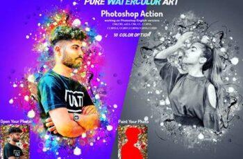Pure Watercolor Art Photoshop Action 5949437 6