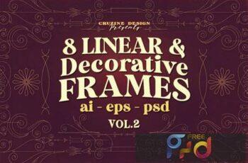 8 Decorative & Linear Frames - Vol.2 X5NZY6L 3