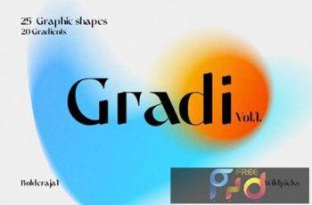 Gradient Color Grainy Textures REDFXZ8 7