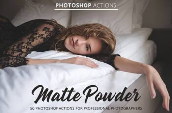 Matte Powder Actions for Photoshop 4847029 6