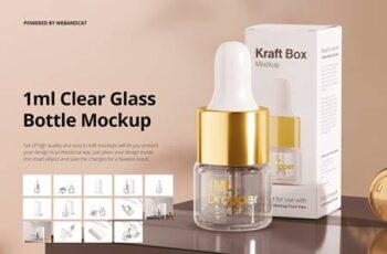 1ml Clear Glass Bottle Mockup 5883138 12