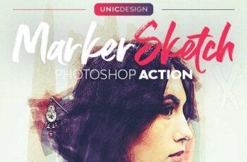Marker Sketch Photoshop Action 30819020 7