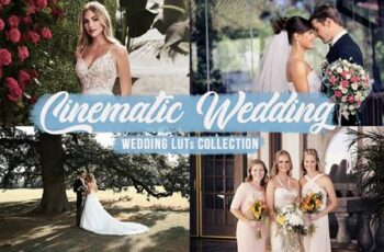 Cinematic Wedding LUTs Bundle 5845567 12