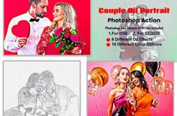 Couple Oil Portrait Photoshop Action 5871930 4