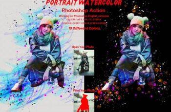 Portrait Watercolor Photoshop Action 5872719 8