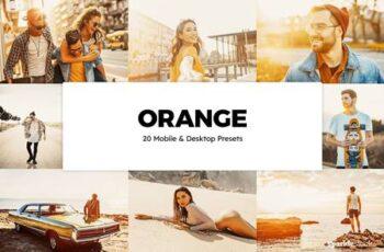 20 Orange Lightroom Presets & LUTs 5993689 2
