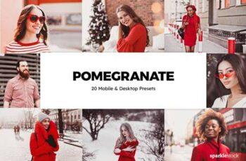 20 Pomegranate Lightroom Presets & LUTs 5994869 4