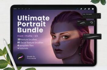 Ultimate Procreate Portrait Bundle 5892281 10