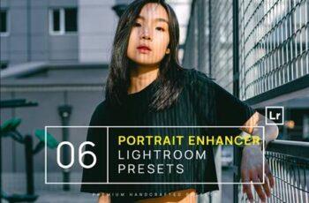 6 Portrait Enhancer Lightroom Presets + Mobile NSHTQ2M 3