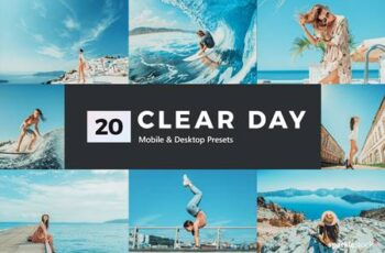 20 Clear Day Lightroom Presets and LUTs AAKFUKU 5