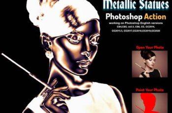 Metallic Statues Photoshop Action 5930706 2