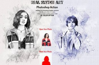 Real Sketch Art Photoshop Action 5990338 6