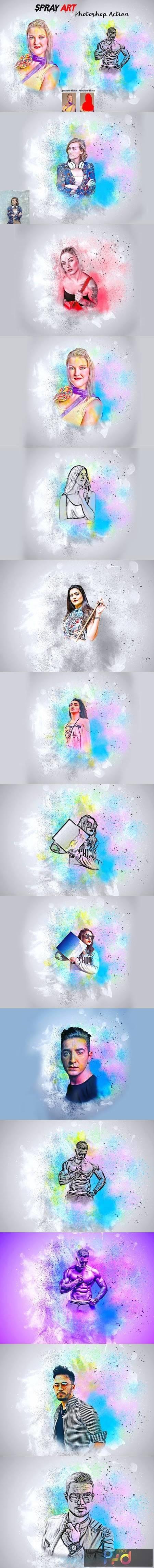 Spray Art Photoshop Action 5988838 1