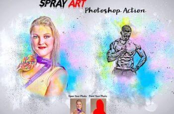 Spray Art Photoshop Action 5988838 3