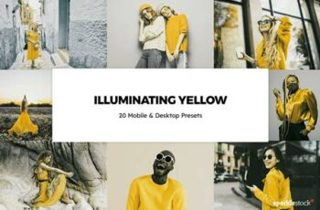 20 Illuminating Yellow LR Presets 6003981 6
