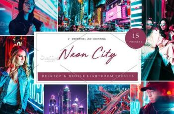 15 x Lightroom Presets, Neon City 5962657 5