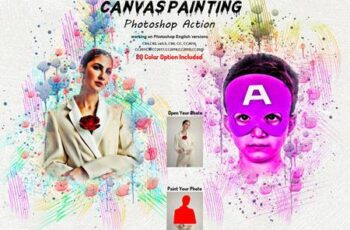 Canvas Painting Photoshop Action 5804650 2