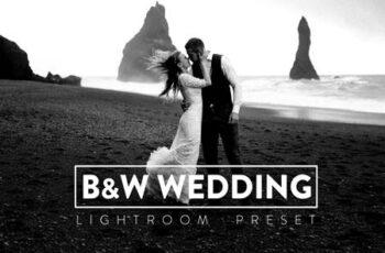 10 Black and White Wedding Lightroom Preset PV6QQMU 5