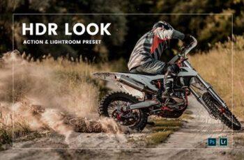 HDR Look Action & Lightroom Preset MZVSEGW 4
