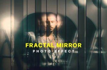 Strip Fractal Mirror Photo Effect SLCX523 9