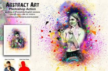 Abstract Art Photoshop Action 5480258 4