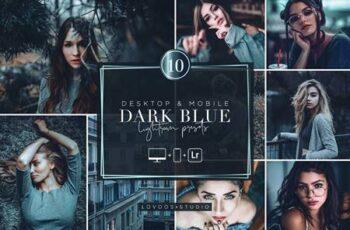 DARK BLUE - Lightroom Presets 6015455 6