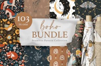 Seamless Boho Pattern Bundle 9941469 3