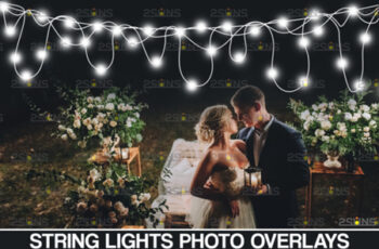 String Fairy Lights Overlay & Wedding 8555009 2