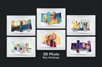 3D Photo Box Mockups Template V-8 69NZCZ2 2