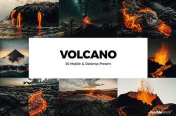 20 Volcano Lightroom Presets & LUTs SY2TX4K 2