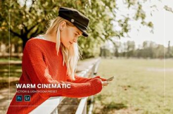 Warm Cinematic Action & Lightroom Preset ZDDF78R 2
