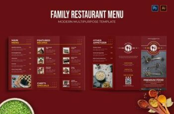 Family - Restaurant Menu 5FUPNHG 9