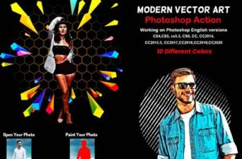 Modern Vector Art Photoshop Action 5879905 16